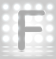 F over lighted background vector image vector image