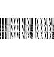 Roman numerals vector image