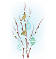 Easter birds vector image vector image