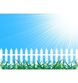 vector background with fence vector image
