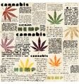 Hemp leaves newspaper vector image