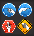 Sign language signs vector image vector image