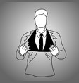 businessman suit inside t-shirt vector image