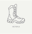 Line flat hunt and camping icon - ankle vector image