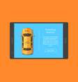 taxi car order app screen vector image