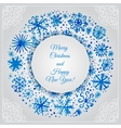Watercolor frame for Chrictmas and New Year vector image