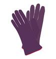 Winter gloves vector image