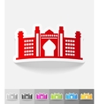 realistic design element Dubai Palace vector image