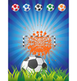 Soccer Backgrounf vector image