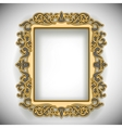 Carved Wooden Frame vector image vector image