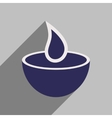 Modern flat icon with long shadow Indian candle vector image