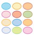 Colorful Set of Oval Frames for Desig vector image vector image