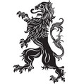 the rebels lion - the heraldic symbol vector image