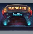 monster battle gui boot window vector image