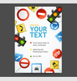 road sign flyer banner posters card vector image vector image