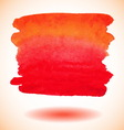 Red isolated watercolor paint banner vector image
