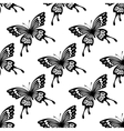 Seamless background pattern of flying butterflies vector image