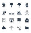 Network Icons Black vector image