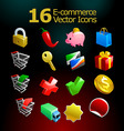 ecommerce icons  vector image