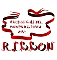 ribbon alphabet vector image vector image