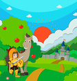 Knight and horse on the land vector image