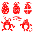 easter miniset red vector image vector image