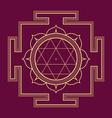 monocrome outline Durga yantra vector image