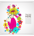 Woman with flowers vector image vector image