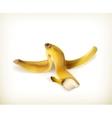Banana peel vector image