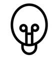 bulb electric electricity energy idea light icon vector image