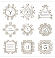 Calligraphic monogram emblem template vector image