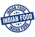 indian food blue round grunge stamp vector image