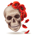 skull poppy art vector image