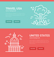 usa banner templates vector image