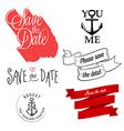 Wedding invitation typographic design elements vector image
