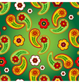 Vivid green seamless floral pattern vector image vector image