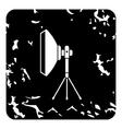 Studio light softbox icon grunge style vector image