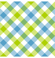 Blue green diagonal checkered plaid seamless vector image