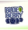 Blueberry still life vector image