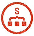 collect money rounded grainy icon vector image