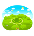 path over green landscape vector image vector image