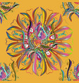 traditional indian style ornamental floral vector image