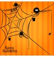 Web spiders and fishing in Halloween style vector image