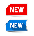 New Red and Blue Paper Labels - Stickers Set vector image vector image