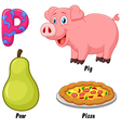 P alphabet vector image vector image