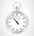 Chrome stopwatch vector image