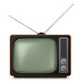 realistic vintage tv vector image vector image