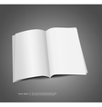 magazine blank template vector image