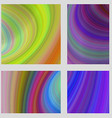 Abstract psychedelic brochure background set vector image