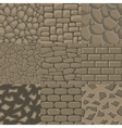 cartoon stone wall seamless texture vector image